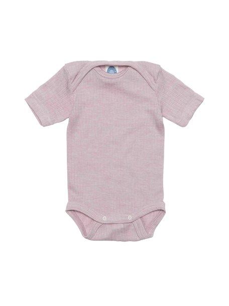 Cosilana Short Sleeved Baby Body Wool/Silk/Cotton - Pink