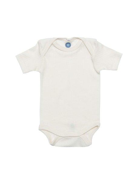 Cosilana Short Sleeved Baby Body Wool/Silk/Cotton - Natural