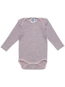 Cosilana Baby Body Wool/Silk/Cotton Striped - Pink/Purple