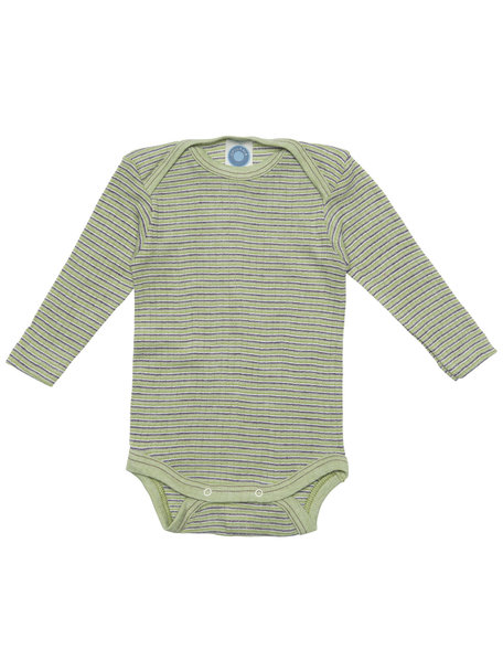 Cosilana Baby Body Wool/Silk/Cotton Striped - Green/Purple
