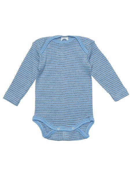 Cosilana Baby Body Baby Body Wool/Silk/Cotton Striped - Blue/BrownWool/Silk/Cotton Striped - blue/brown