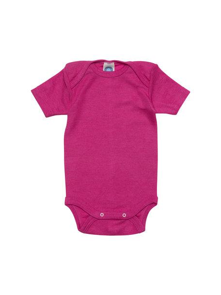 Cosilana Short Sleeve Baby Body Wool/Silk - Pink