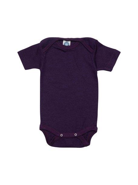 Cosilana Short Sleeve Baby Body Wool/Silk - Purple