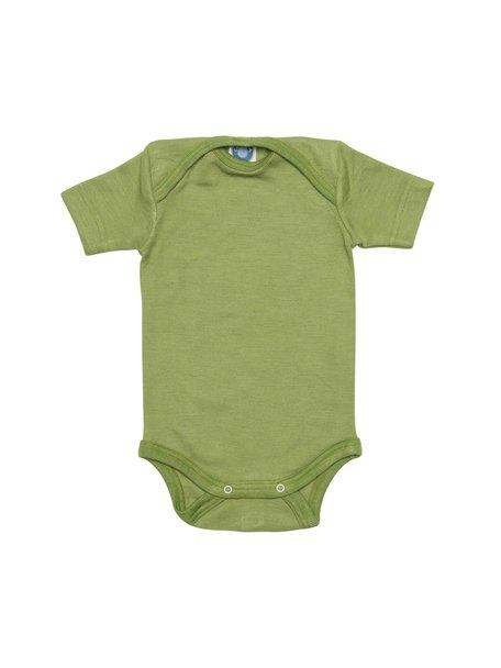 Cosilana Short Sleeve Baby Body Wool/Silk - Green