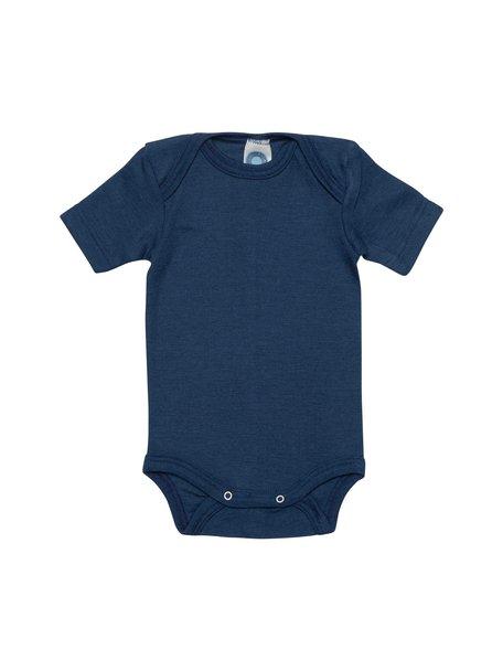 Cosilana Short Sleeve Baby Body Wool/Silk - Navy