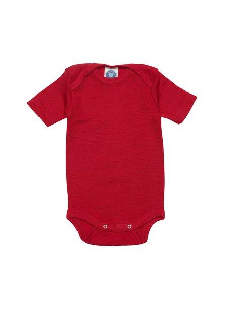 Cosilana Short Sleeve Baby Body Wool/Silk - Red