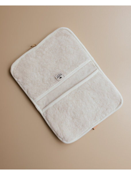 Alwero Diaper pouch made of wool plush - natural