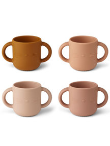 Liewood Drinking cup cat - rose multi mix - 4 pack