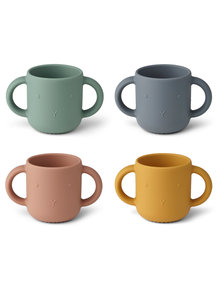 Liewood Drinking cup rabbit - multi mix - 4 pack
