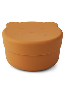 Liewood Silicone snack bowl  bear small - mustard