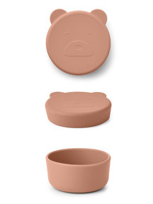 Liewood Silicone snack bowl  bear small - Tuscany rose