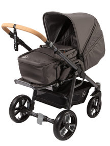 Naturkind Baby stroller Lux slate grey - seat unit including carry cot