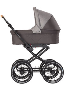 Naturkind Baby stroller Vita mottled/slate grey - seat unit including baby basket