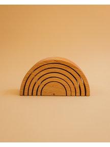 Spelenderwijs leren Medium wooden rainbow 6-piece