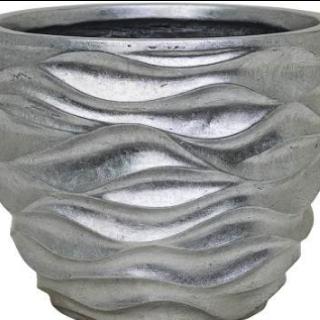 Zilveren bloempot