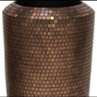 Bronze bloempot