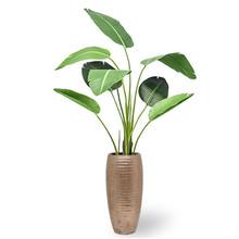 Kunstplant Strelitzia in Gehamerd koper