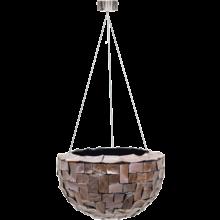 Oceana Pearl Hanging Bowl Brown