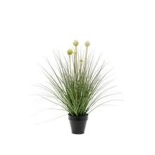 Allium gras wit/groen kunstplant