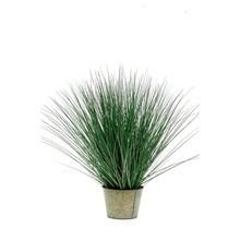 Wild gras in zinken pot kunstplant