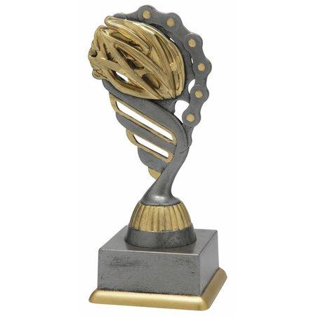 Wielren trofee antiek grijs-goud