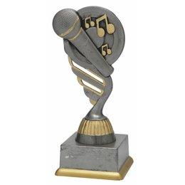 Microfoon trofee 15.5cm t/m 18.5cm