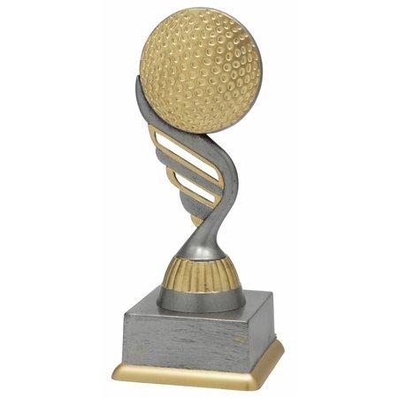 Golf trofee antiek grijs-goud