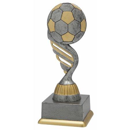 Voetbal trofee antiek grijs-goud