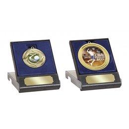 Medailledoosje blauw voor 50/60/70mm medailles