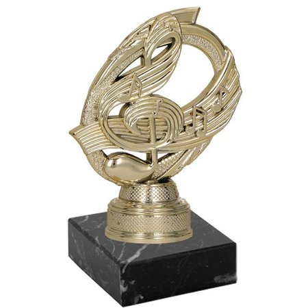 Plastic figuur muzieknoot op marmer