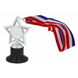 3D trofee- medaille met lint