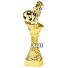 Trofee voetbal Goud 23.5cm t/m 27.5cm