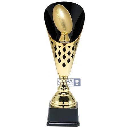 Rugby beker metaal  Goud