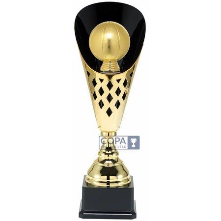 Basketbal beker metaal Goud