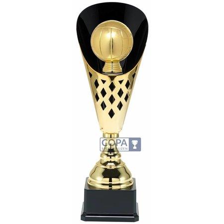 Volleybalbeker metaal Goud