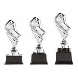Boks trofee zilver 15.5cm t/m 18.5cm