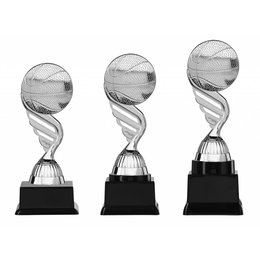 Basketbaltrofee  zilver 15.5cm t/m 18.5cm