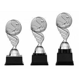 Tennis trofee  zilver 15.5cm t/m 18.5cm