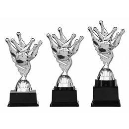 Bowling trofee  zilver 15.5cm t/m 18.5cm