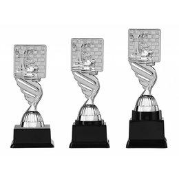 Schaak trofee  zilver 15.5cm t/m 18.5cm