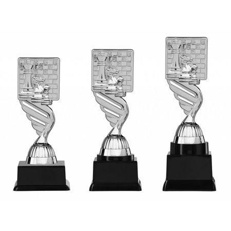Schaak trofee zilver