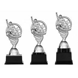 Kart trofee  zilver 15.5cm t/m 18.5cm