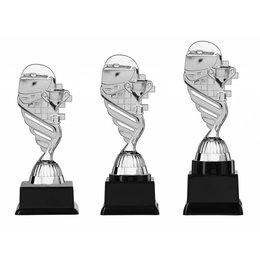 Helm trofee  zilver 15.5cm t/m 18.5cm