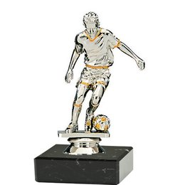 Voetballer speler op marmer voet