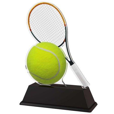 Tennis trofee acryl