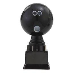 3D bowlingbal op blok 13 t/m 15.5cm