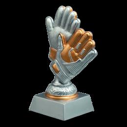 Keeperhandschoen zilver 14 t/m 20cm