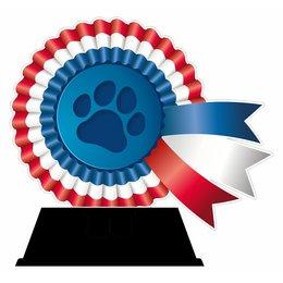 Hondensport trofee acryl 13cm