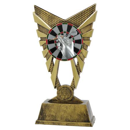 Trofee Goud, zilver en brons 23cm