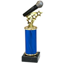 Trofee met microfoon